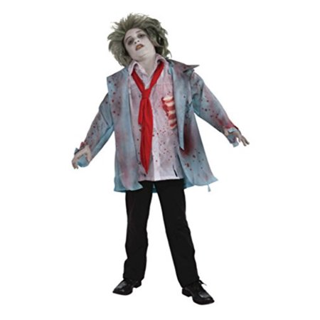Boys Zombie Boy Kids Child Fancy Dress Party Halloween Costume, S - Boys Halloween Fancy Dress