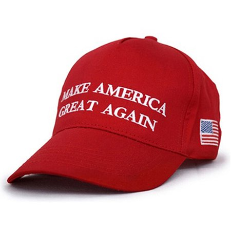 Heepo Red Make America Great Again Letters Print Hat Donald Trump Republican Hat -