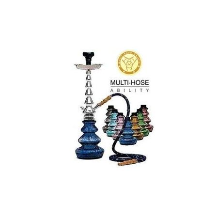 "MYA SARAY ECONO LUNA 22"" COMPLETE HOOKAH SET: Portable Modern Hookahs with multi hose capability from a Single Hose shisha pipe to 2 Hose, 3 Hose, or 4 Hose narguile pipes (Green Hookah)"