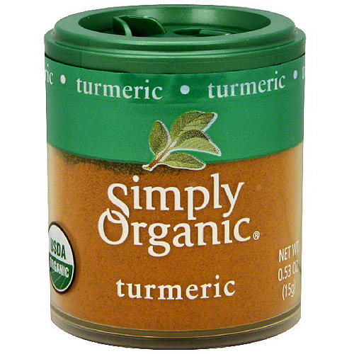 Simply Organic Turmeric, 0.53 oz (Pack of 6)