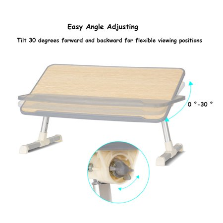 Portable Lap Desk Folding Lazy Laptop Computer Table Adjustable Bed Tray Stand - image 5 of 10