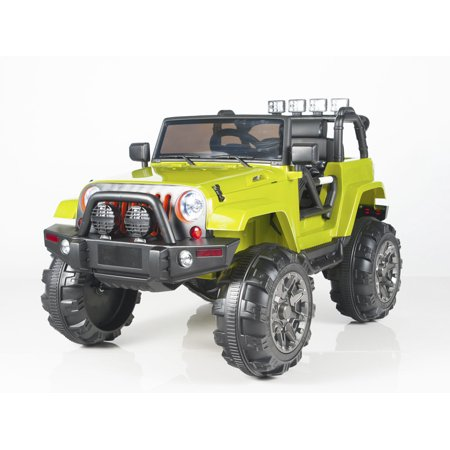 New Limited Edition Jeep Wrangler Style 12v Ride On Toy Car With