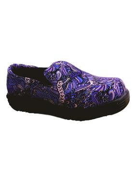 Savvy Daisy Women's Nursing Shoe in Blue Mardi Gras