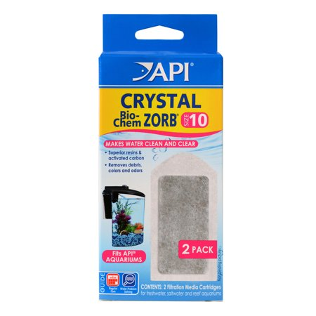(2 Pack) API CRYSTAL BIO-CHEM ZORB SIZE 10 Aquarium Filtration Media Cartridges for API SUPERCLEAN 10 2-Count Box