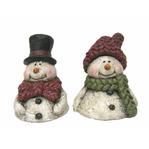 Craft Outlet Snowman Couple (Set of 2)