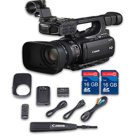 Canon XF100 HD Professional Camcorder + 2 PC 16 GB Memory Cards + All Manufacturer Accessories - International Version Gigabyte Pc Card Memory