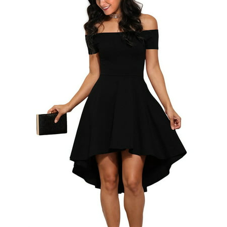 Valentine's Day Gift For Women, Women's Off Shoulder Dress Short Vintage Dress, Black Cocktail Party Dresses for Women, Fall / Winter Elegant Party Dreses for Women, - Valentines Dance Dresses
