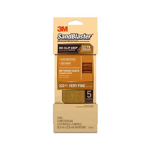 3M COMPANY 11320-G 5PK 320Grit Gold Sandpaper by 3M COMPANY