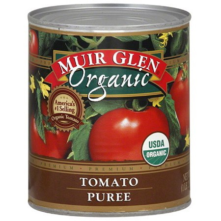 Organic Diced Tomatoes - Muir Glen Organic Tomato Puree, 28 oz (Pack of 12)
