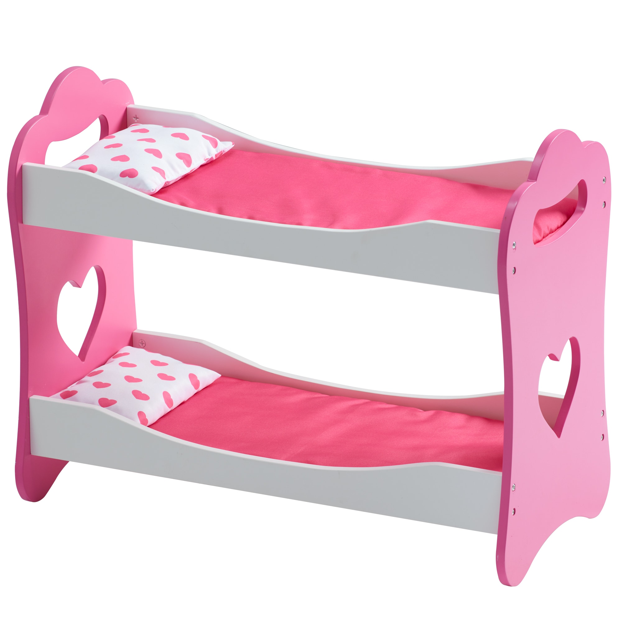 "Olivia's Little World - Princess of Hearts Pop Pink 18"" Doll Bunk Bed"