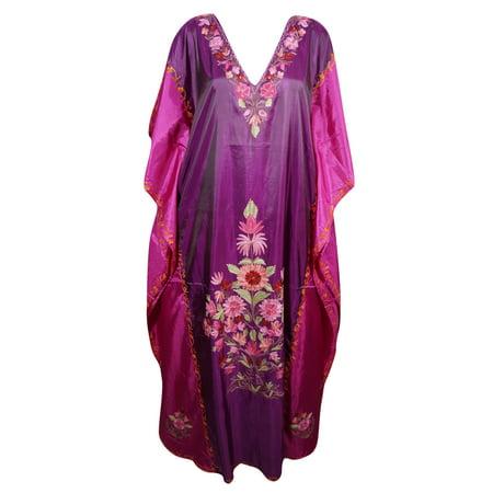 8e585cd2e68 Mogul Interior - Mogul Beach Wear Kimono Silk Blend Embroidered ...