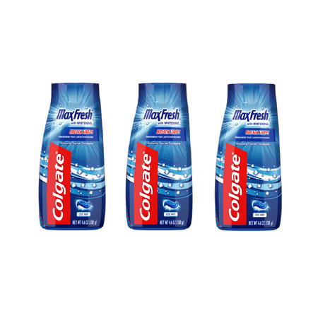 (3 Pack) Colgate Max Fresh Liquid Gel 2-in-1 Toothpaste and Mouthwash - 4.6 oz
