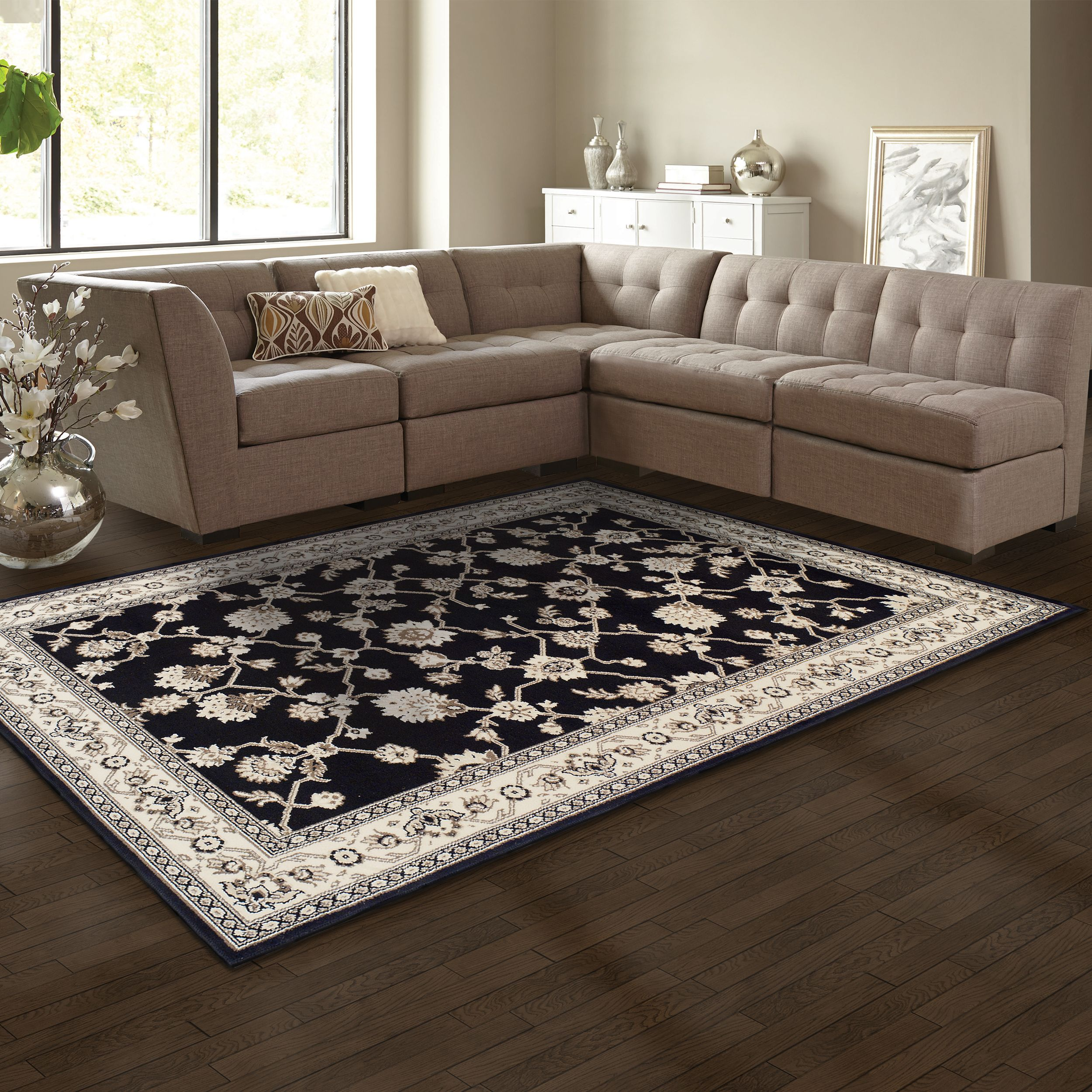 Superior Elegant Kingfield Collection with 8mm Pile and Jute Backing, Moisture Resistant and Anti-Static Indoor Area Rug