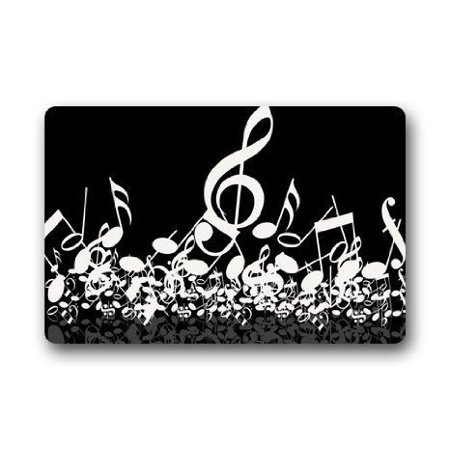 Math Music (WinHome Music Notes Doormat Floor Mats Rugs Outdoors/Indoor Doormat Size 23.6x15.7 inches)