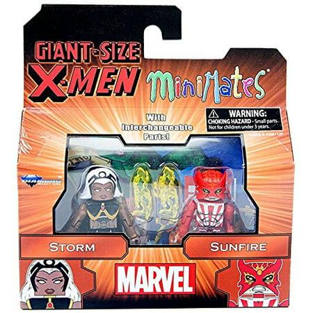 DIAMOND SELECT TOYS Marvel Minimates Series 68 Giant Size X-Men Storm & Sunfire (Marvel Storm)