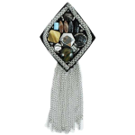 Expo Diamond Beaded Brooch with Chains by Expo International, Inc