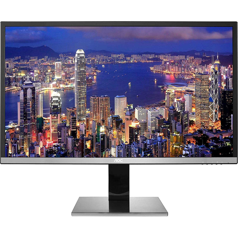 "Refurbished AOC 32"" (3840 x 2160) Flat Screen, LED Gaming Monitor, 4K, HD, USB 3.0, Black"