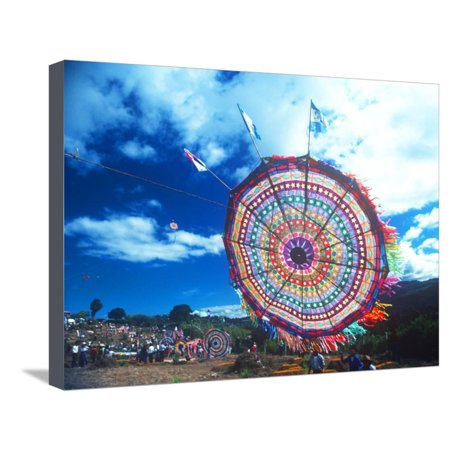 Giant Kite Festival, All Souls All Saints Day, Guatemala Stretched Canvas Print Wall Art (All Saints Day All Souls Day Halloween)