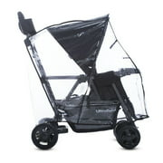 Joovy Caboose Ultralight Tandem Stroller Rain Cover, Weather Shield for Stroller, Clear