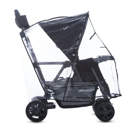 Joovy Caboose Ultralight Tandem Stroller Rain Cover, Weather Shield for Stroller, Clear Minidv Rain Cover