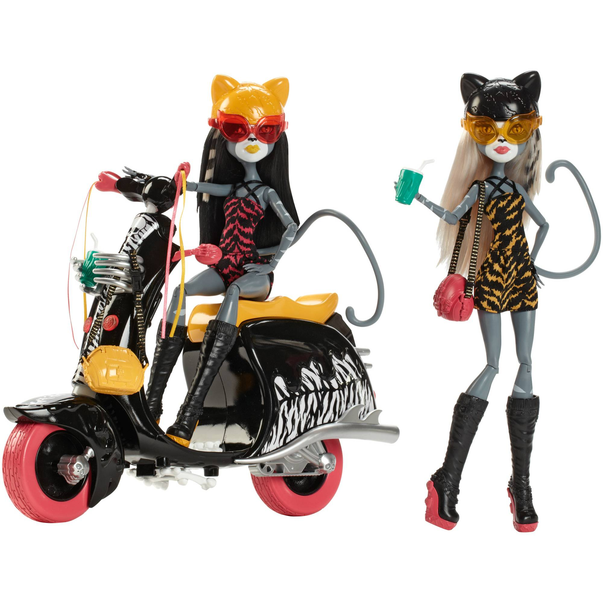 Monster High Werecats Sisters and Scooter