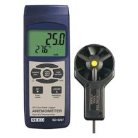 REED INSTRUMENTS Anemometer,LCD,14 hr. Battery Life SD-4207