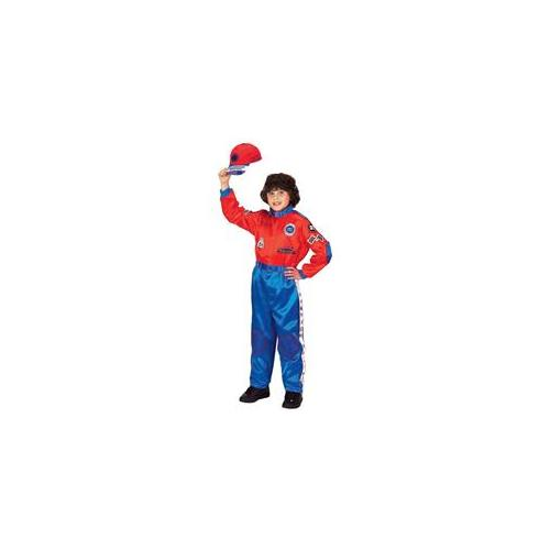 Costumes For All Occasions Ar35Lg Racing Suit Child Red Blue8-10
