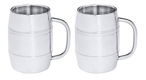 Gifts Infinity Groomsman Gift Old Dutch Keep Cool Barrel-shaped Stainless Steel Beer Mug,... by Gifts Infinity®
