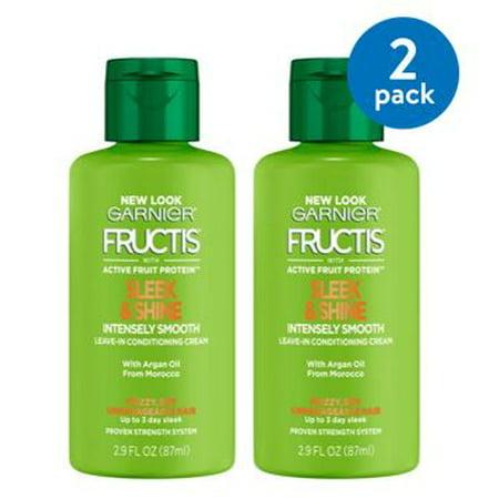 Hair Shine Leave (Garnier Fructis Sleek & Shine Leave In Conditioner (Pack of 2) )