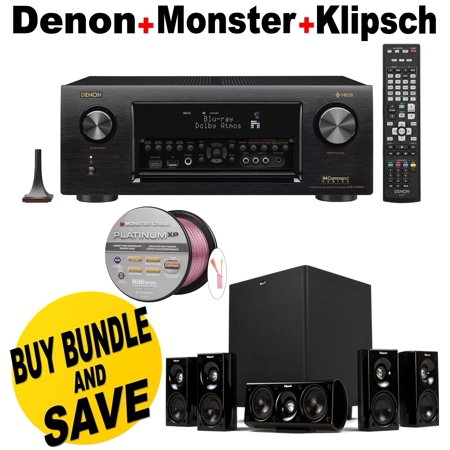 Denon Receiver Audio Amp Video Component Receiver Black
