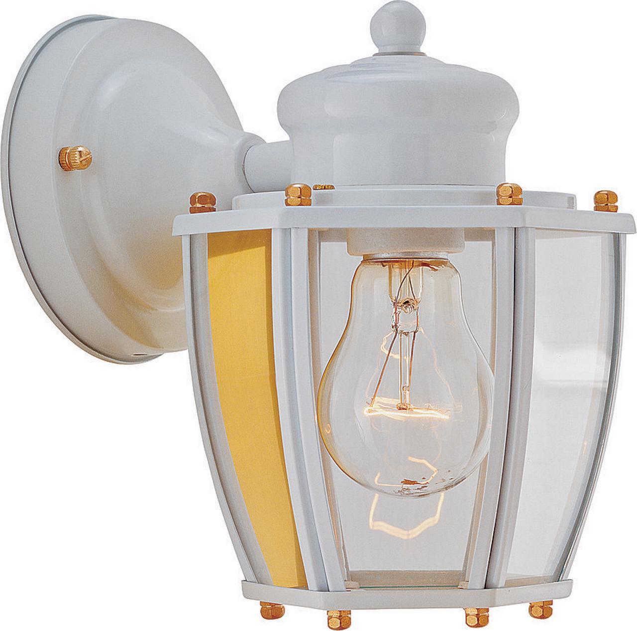 Boston Harbor Dimmable Outdoor Lantern, (1) 60/13 W Medium A19/Cfl Lamp, White