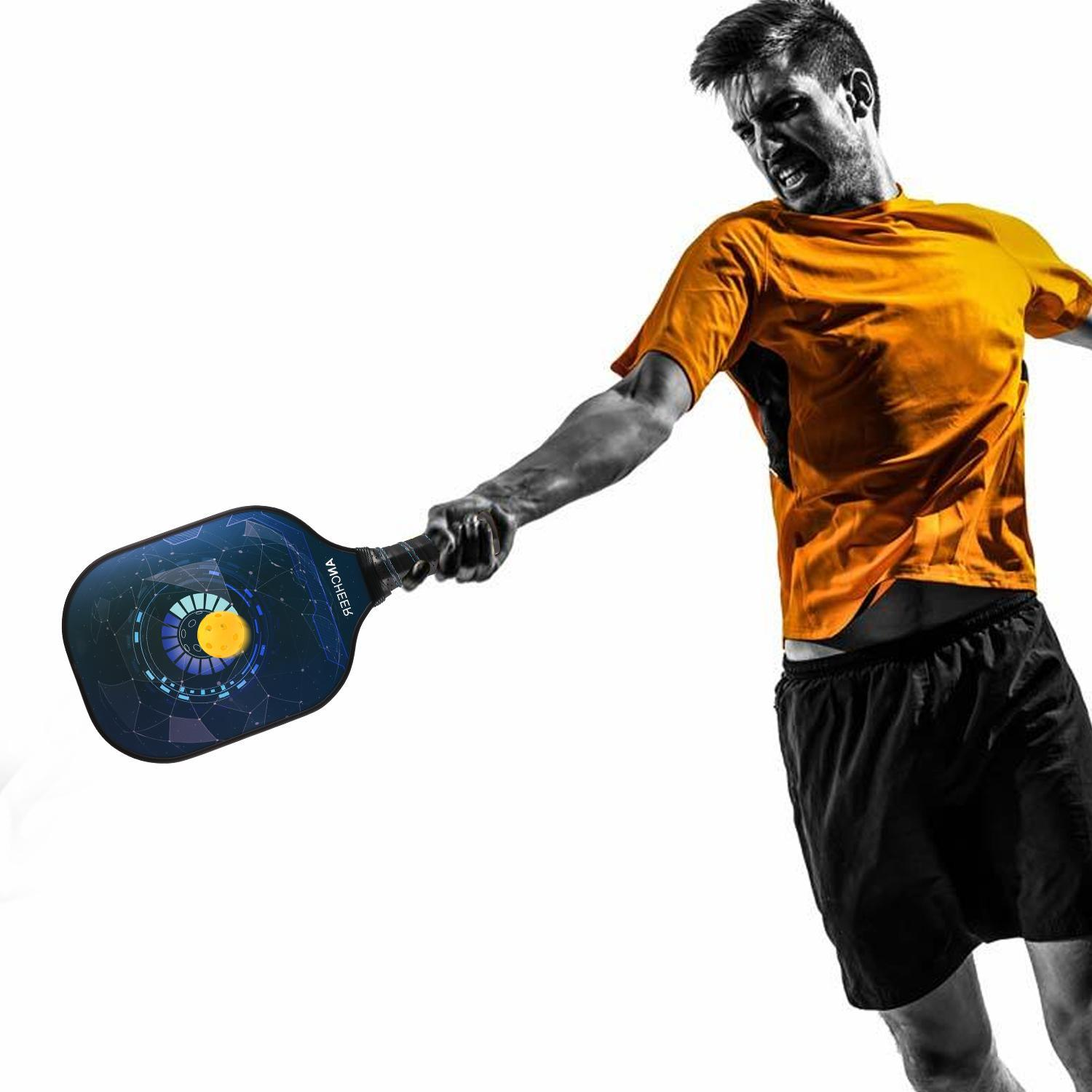 Pickleball Paddle Graphite Carbon Fiber PP Polymer Honeycomb Composite Core Pickleball Paddle Set CCGE