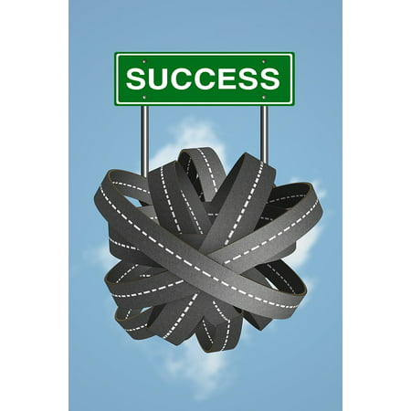Laminated Poster Direction Road To Success Success Road Business Poster Print 24 X 36