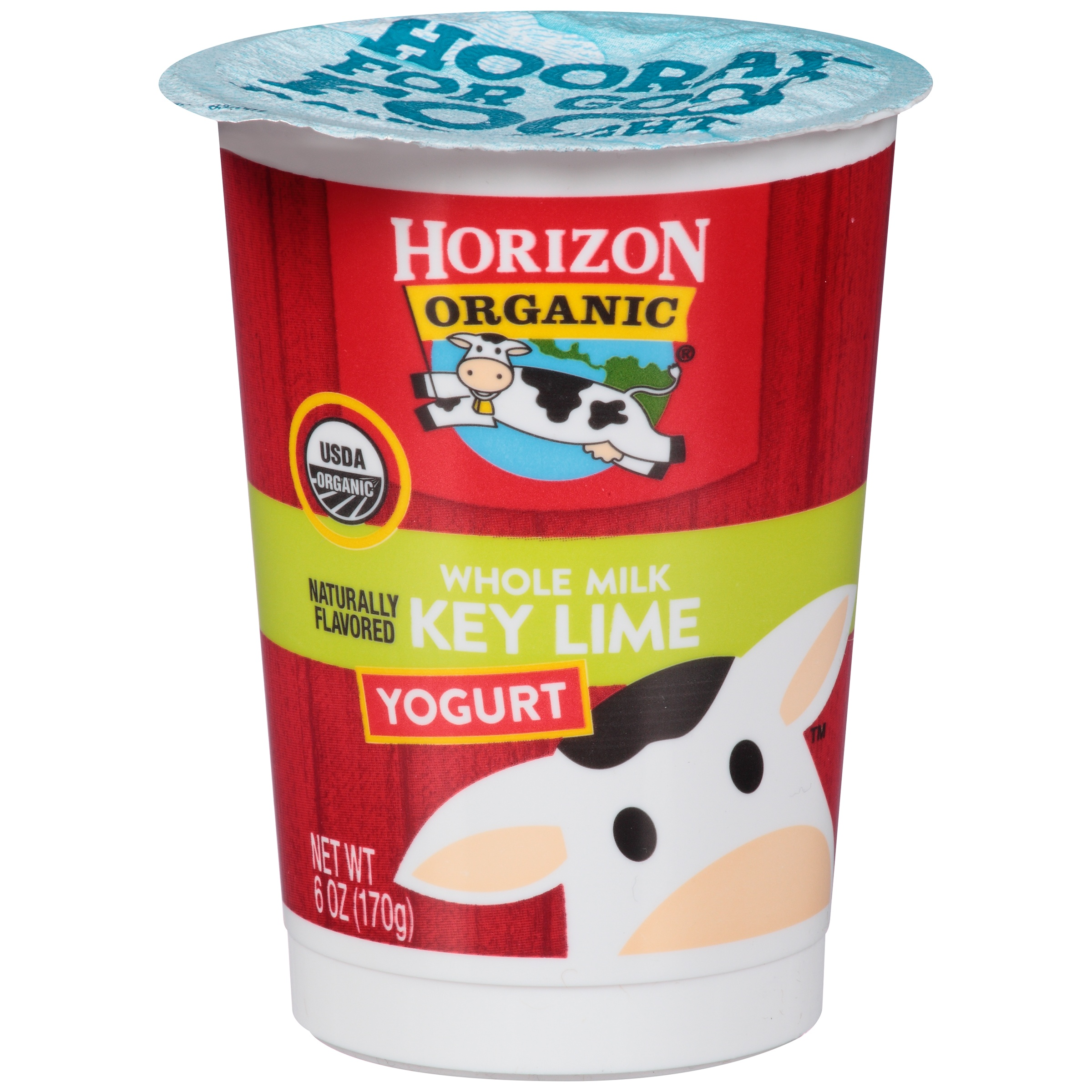 Horizon Organic Whole Milk Key Lime Yogurt 6 Oz Walmart Com