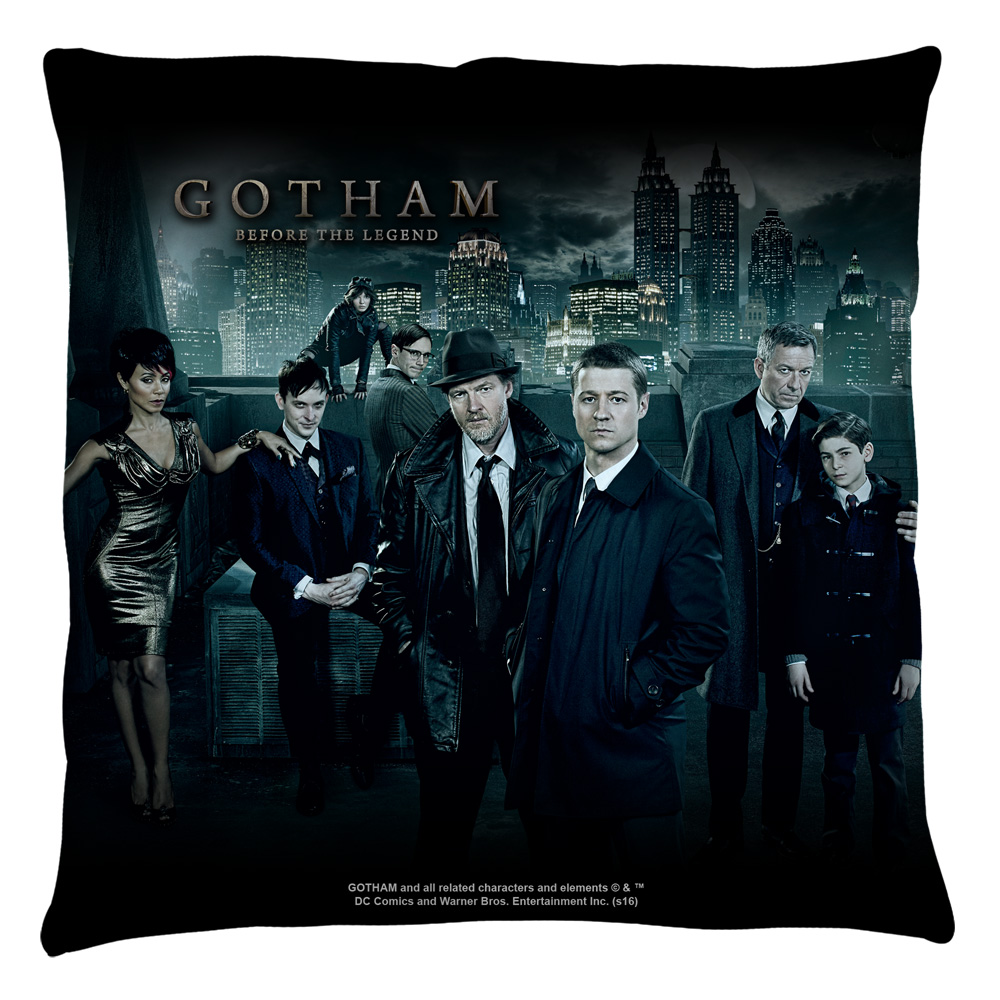 Gotham Gotham Cast Throw Pillow White 14X14