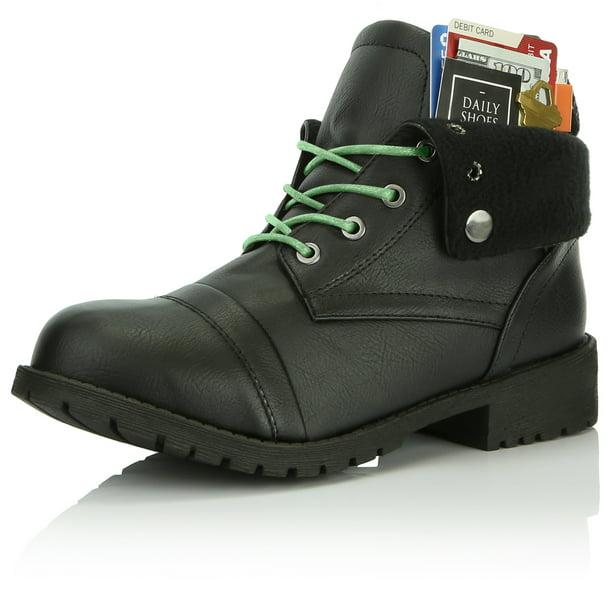 Details about  /New Women Ankle Boots Pocket Short Boot Ladies Lace Up Convinient Shoes Female