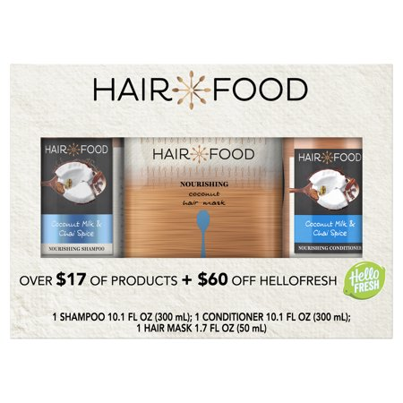 ($17 Value) Hair Food 3-Piece Holiday Set, Nourishing Shampoo, Conditioner and Hair Mask