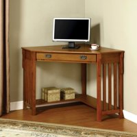 Furniture of America Roque Solid Wood Corner Office Table