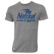 Natural Light Men's Gray Pop Top T-Shirt
