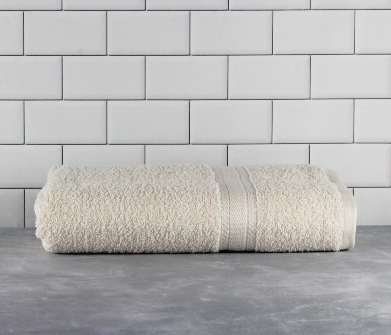 Mainstays Basic Bath Collection - Single Bath Towel, Solid Vanilla