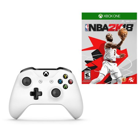NBA 2K18 Basketball Early Tip-Off Edition and Xbox One White Wireless  Controller