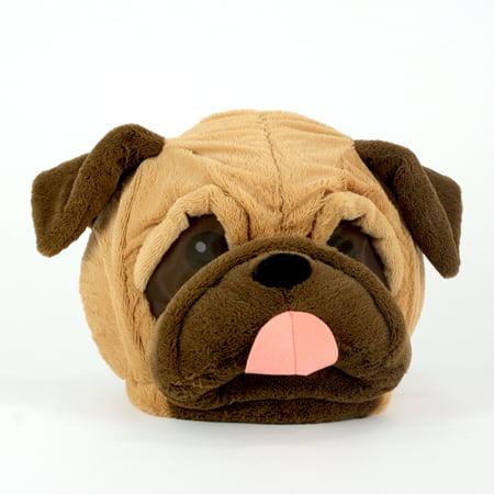 Maskimals Oversized Plush Halloween Mask - Pug