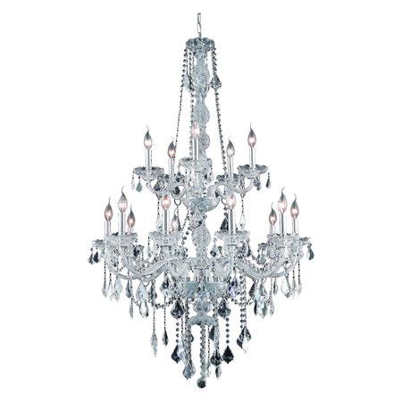 UPC 842814130333 product image for Elegant Lighting Value Verona 15LT Chrome Chandelier - V7815G33C-GT/SS | upcitemdb.com