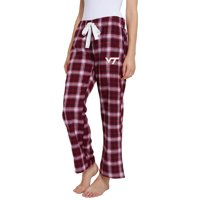 Women's Maroon/Black Virginia Tech Hokies Devote Flannel Lounge Pants
