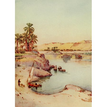 The Banks Of The Nile 1913 Islands Of The First Cataract Canvas Art   Ella Du Cane  18 X 24