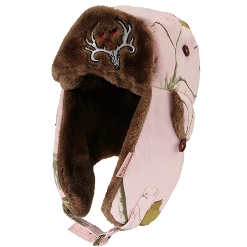 Bone Collector Ladies' Pink Helmet with Realtreee Camo and Faux Fur Lining
