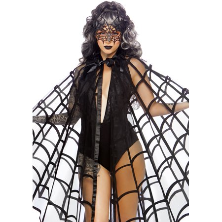 Leg Avenue Velvet Web Cape and (Women's Spider Costume)