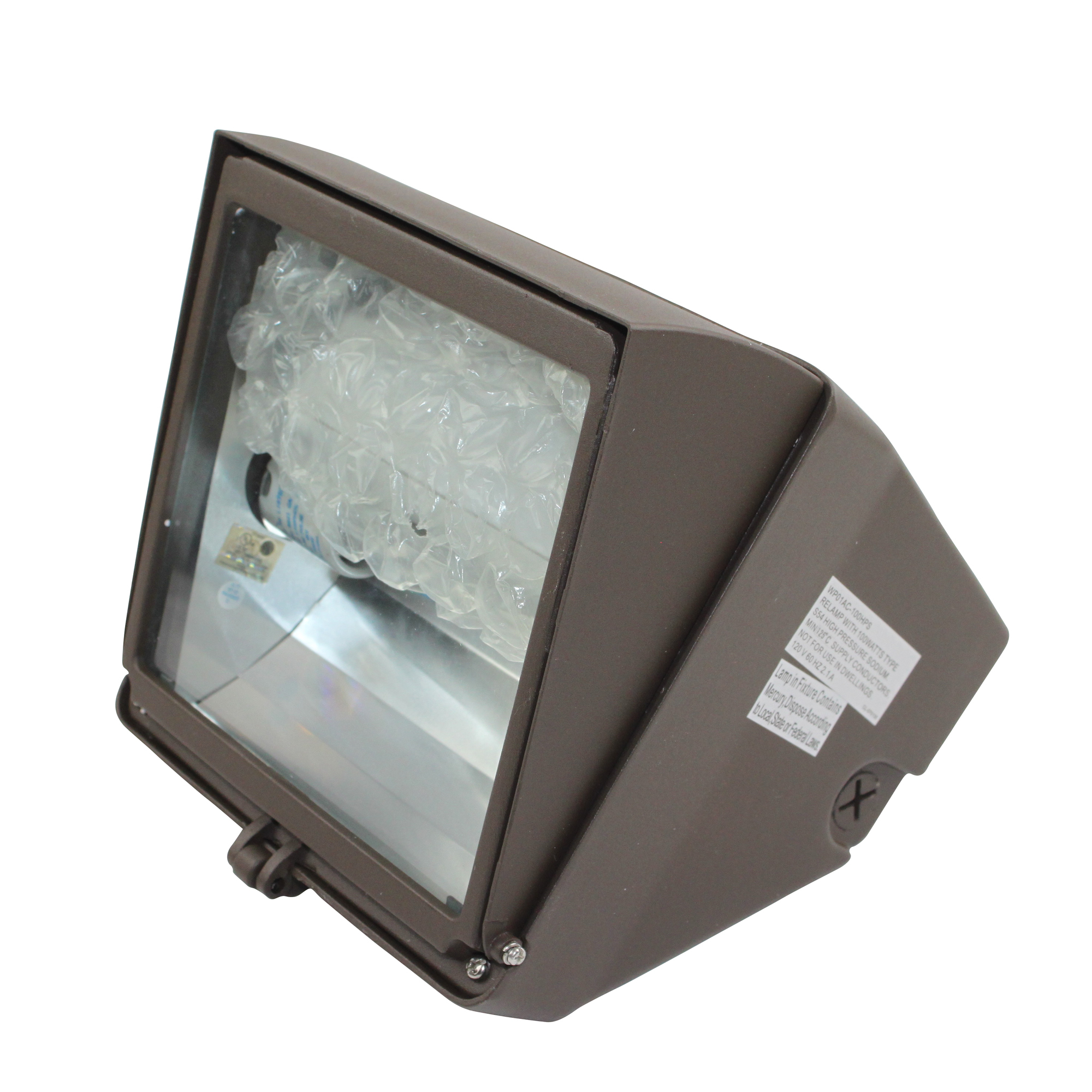 Nsi Wpca70Mh Adjustable Compact Wallpack Metal Halide 70W 120V 60Hz Outdoor Use; Bronze