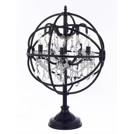 Spherical Orb Crystal Iron 5 Light Table Lamp Modern Contemporary Lamp ()