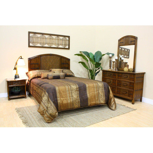 Bundle-13 Hospitality Rattan Polynesian Panel Customizable Bedroom Set (3 Pieces)